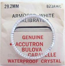 VINTAGE BULOVA ACCUTRON ARMORED WHITE CALIBRATED CRYSTAL 29.2MM