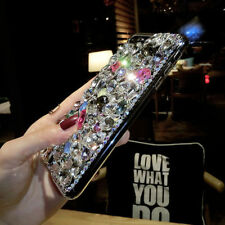 Luxury Diamond Rhinestone Bling 3D Crystal Jewelled Case Cover For iPhone X 8 7