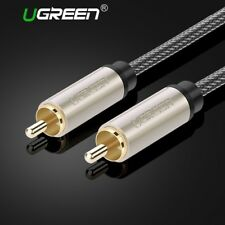 Coaxial Cable RCA Male Video Nylon Stereo Audio Braided 3m 5m 10m RCA for Home