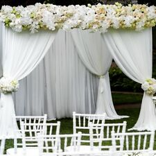 """60 Yards Chiffon Fabric 60"""" Wide Roll Sheer Draping Wedding Party SALE 20 COLORS"""
