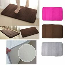 Memory Foam Bath Pad Bathroom Water Absorbent Non-slip Mats Shower Carpet TO