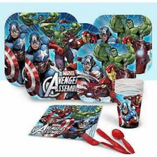 Avengers Birthday Party Tableware Decorations Supplies Masks Games
