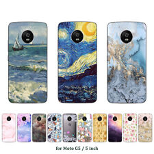 Soft TPU Silicone Case For Motorola Moto G5 Phone Back Covers Skins Marble