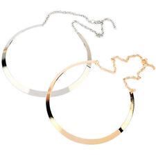 Mirrored Collar Necklace Metal Choker Gold Silver Plated Circle Jewelry Salable