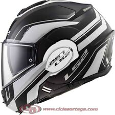 Casco modular LS2 VALIANT FF399 LUMEN Matt/Gloss Black Light talla L