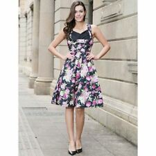 Women Plus Size Summer Floral Printed Pattern Casual Party Pinup Dress
