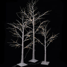 In/Outdoor Christmas Xmas White Birch Snow Tree LED Lights Outdoor Party Decor