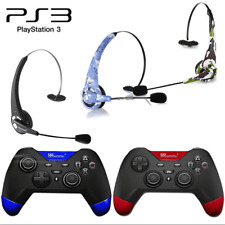 For Sony PS3 Playstation 3 Wireless Bluetooth Game Controller+Game Headset