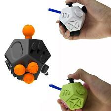 Fidget Cube 12 Side Sided Desk Toy Stress Anxiety Relief Focus Puzzle Adult Kid