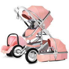 3 In 1 Baby Stroller Carriage High view Pram Foldable Pushchair basket&Car Seat