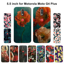Soft TPU Silicone Case For Motorola Moto G4 Plus Phone Back Covers Skins Floral