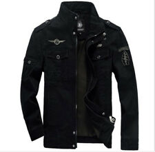 Fashion Mens Jacket Spring&Autumn Casual Coat cotton Overcoat Outwear Military