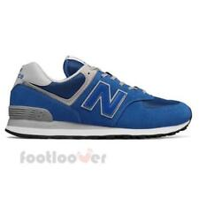 New Balance 574 ML574ERB Mens Shoes Blue Suede Nylon Running Casual Sneakers
