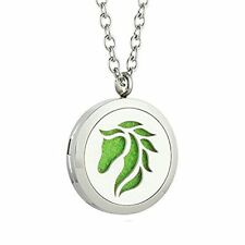 Essential Oil Diffuser Animal Necklace -- Aromatherapy Pendant Locket Jewelry