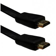 Flat HDMI Cable High Speed With Ethernet v1.4 Gold 1080p Full HD DVD / CD
