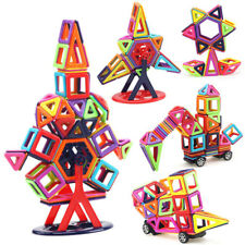 40-166Pcs DIY 3D Magnetic Blocks Construction Building Toys Kids Christmas Gifts