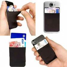 ID Card Silicone 3M Adhesive Credit Wallet Cell Phone Case Holder Z