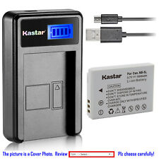 Kastar Battery LCD USB Charger for Canon NB-5L NB-5LH & Canon PowerShot SD880 IS