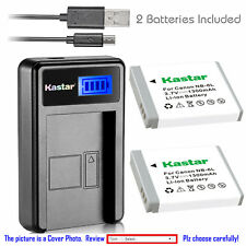 Kastar Battery LCD Charger for Canon NB-6L NB-6LH & Canon PowerShot S90 Camera