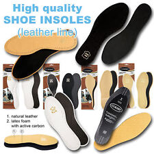 High Quality Shoe Inserts Ladies Men Leather Line,  All Sizes or Cut To Size