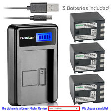 Kastar Battery LCD USB Charger for Canon NB-2L24 NB-2L & Canon ZR800 ZR830 ZR850