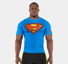 Under Armour SUPERMAN Alter Ego Compression T-Shirt M XL NWT NEW Blue