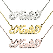 Gold / Sterling Silver Name Necklace - Handmade Any Name Necklace - Personalized