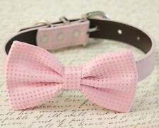Pink Dog bow tie collar Pet accessory Puppy birthday Pink lovers Handmade USA