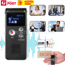 Rechargeable USB Digital Voice Recorder MP3 Player Telephone Dictaphone 8/16GB