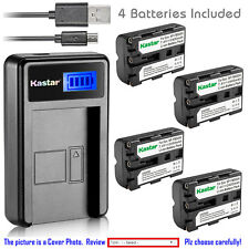 Kastar Battery LCD Charger for Sony NP-FM500H & Sony DSLR-A900 Alpha A900 Camera