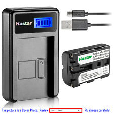 Kastar Battery LCD Charger for Sony NP-FM500H & Sony DSLR-A580 Alpha A580 Camera