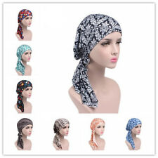 Women Flower Cap Hijab Scarf Muslim Wrap Head Hat Turban Islamic Abaya HeadWrap