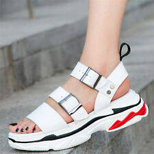 Women Cow Leather Sport Sandals Strappy Gladiators Platform Fashion Sneakers New
