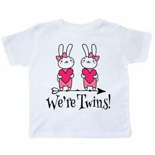 Inktastic Twin Girl Gift Bunny Rabbit Toddler T-Shirt Twins Girls Childs Easter