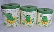 Vintage Neil The Frog Melmine Canister Set Sold by Sears Roebuck 1978 Japan
