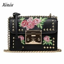 Luxury Handbags Women Bags Designer Embroidery Rose Crossbody Shoulder Bags Chai