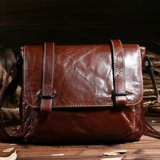 Shoulder Bag Vintage Men Cow Genuine Leather Messenger Crossbody Handbag Casual