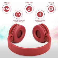 Wireless Bluetooth Foldable Headset Stereo Headphone Earphone FM Mode For Phone