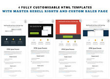 Sales Page HTML Template Pack With Master Resale Rights and Resellers Sales Page