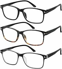 Reading Glasses 3Pair Stylish Quality Readers Spring Hinge Glasses Reading 1-3.5