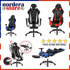 Gaming Office Chair With Footrest For ComputerGame Racing Style Ergonomic Design