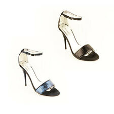 WOMENS PARTY EVENING ANKLE STRAP STILETTO HEEL SANDALS LADIES SHOES NEW SIZE 3-7