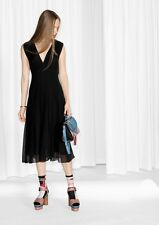 & Other Stories 100% Mulberry Silk Viole Midi Dress 8 10 12 (H&M Group) BNWT