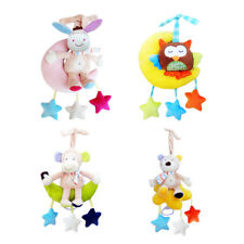 Baby Rattle Bell Infant Stroller Musical Hanging Toy Animals Stuffed Plush Doll