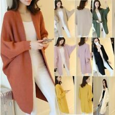 Women Oversize Batwing Sleeve Knitted Sweater Loose Cardigan Outwear Coat lot AL
