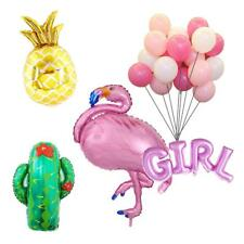 Tropical Flamingo Boy Girl Pineapple Cactus Balloons Baby Shower Decor