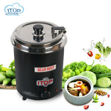 Adjustable Heat Stainless Soup Kettle Warmer Commercial Steel Food Electric Boil