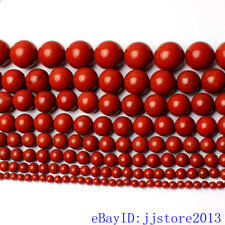 """4.6.8.10.12.14.16.18mm Natural Red Jasper Round Shape Loose Beads Strand 15"""""""