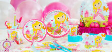 SALE Woodland Princess Birthday Party Supplies - plates, napkins, cups,