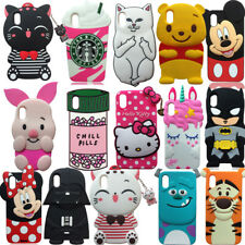 For iPhone X 3D Soft Silicone Case Phone Back Cover Skin Shell Shockproof